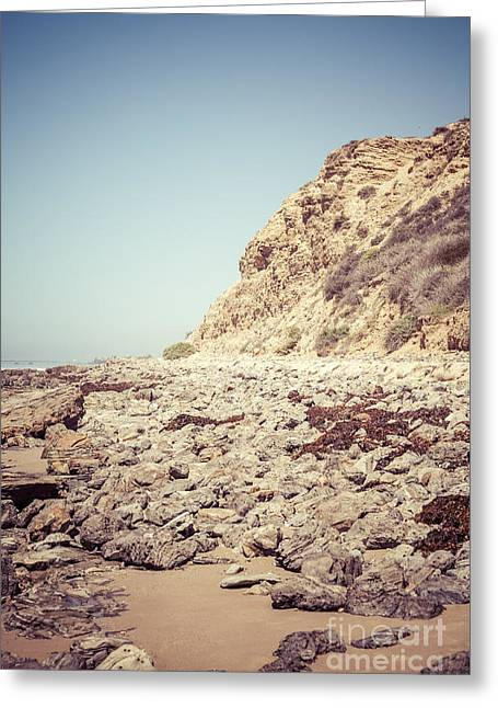 Outlook Greeting Cards - Crystal Cove State Park Cliff Picture Greeting Card by Paul Velgos