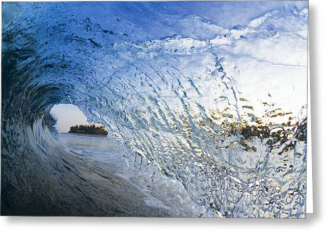 Ocean Art Photography Greeting Cards - Crystal Curl Greeting Card by Sean Davey