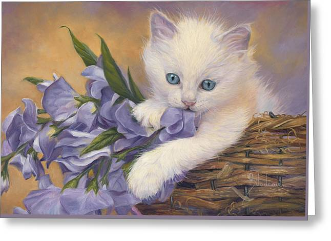 Orange Tabby Paintings Greeting Cards - Crystal Eyes Greeting Card by Lucie Bilodeau