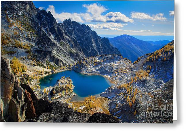 Leavenworth Greeting Cards - Crystal Lake Greeting Card by Inge Johnsson
