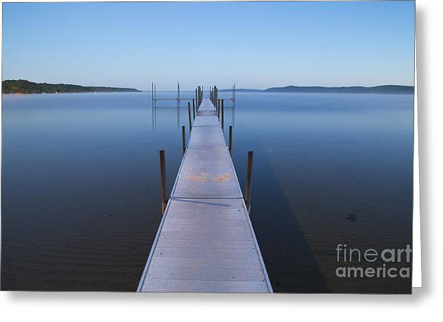 Crystal Lake Pre Dawn Greeting Card by Twenty Two North Photography