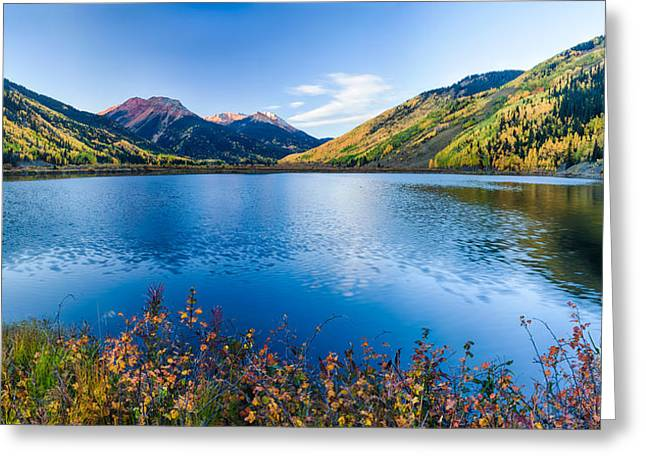 Ironton Greeting Cards - Crystal Lake Surrounded By Mountains Greeting Card by Panoramic Images