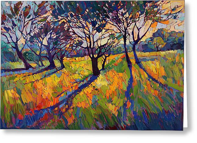 Oak Tree Paintings Greeting Cards - Crystal Light II Greeting Card by Erin Hanson