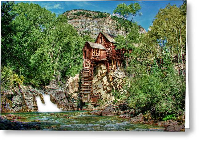 Crystal Mill Crystal Colorado Greeting Card by Ken Smith