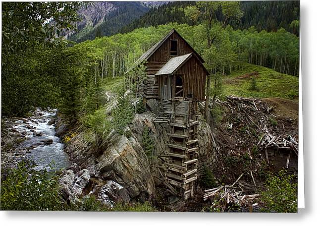 Crystal Mill Greeting Cards - Crystal Mill Greeting Card by Ellen Heaverlo