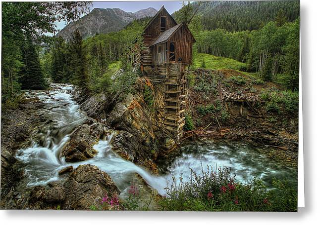 Crystal Mill Greeting Cards - Crystal Mill Riverside Greeting Card by Ryan Smith