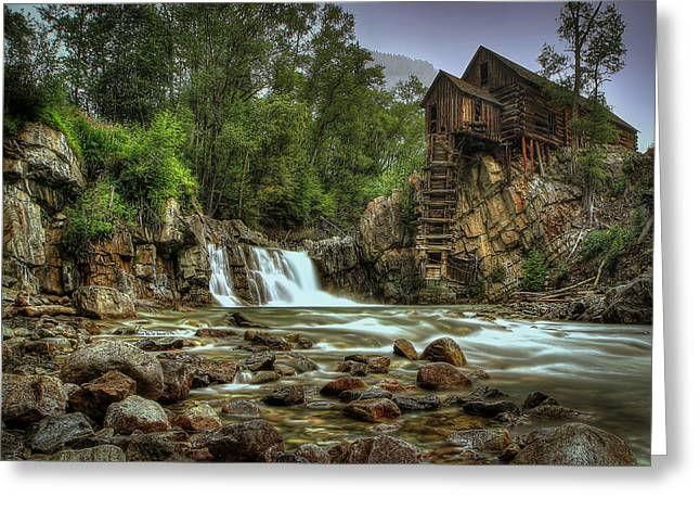 Crystal Mill Greeting Cards - Crystal Mill   Greeting Card by Ryan Smith