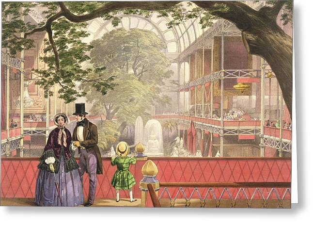 Family Drawings Greeting Cards - Crystal Palace, The Transept Greeting Card by Joseph Nash