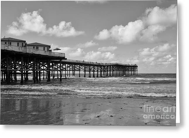 Crystals Greeting Cards - Crystal Pier in Pacific Beach Greeting Card by Ana V  Ramirez