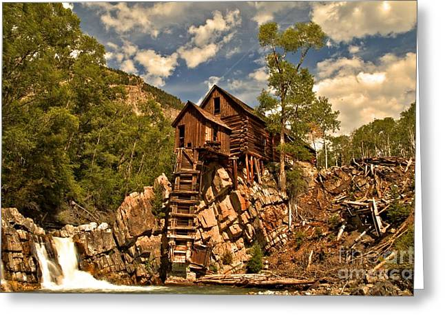 Water Powered Generator Greeting Cards - Crystal River And Crystal Mill Greeting Card by Adam Jewell