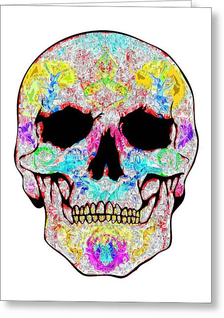 Scull Greeting Cards Greeting Cards - Crystal Skull Greeting Card by Mauro Celotti