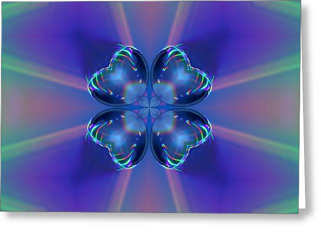 Digipho333 Studio Greeting Cards - Crystal Shamrock Yantra Greeting Card by Shannon Story
