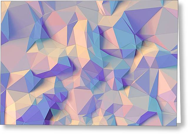 Geometric Style Greeting Cards - Crystal triangle Greeting Card by Vitaliy Gladkiy