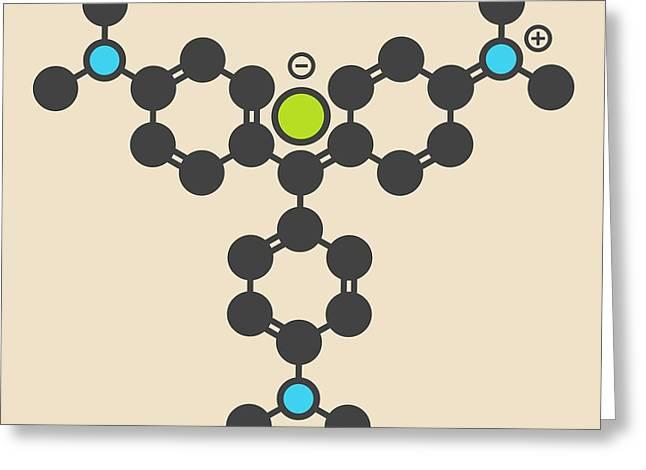 Crystal Violet Molecule Greeting Card by Molekuul