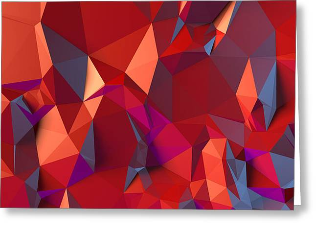 Backdrop Greeting Cards - Crystal volcanic Greeting Card by Vitaliy Gladkiy
