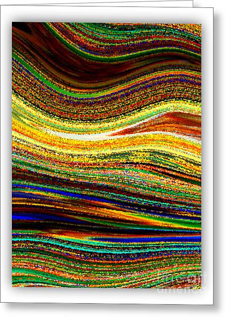 Abstract Digital Photographs Greeting Cards - Crystal Waves Abstract 1 Greeting Card by Carol Groenen