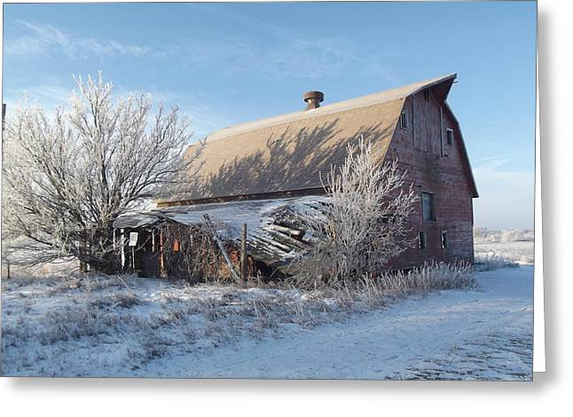Crystaline Barn Greeting Card by Bonfire Photography