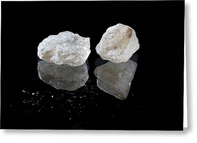 Crystalline Mdma Greeting Card by Victor De Schwanberg