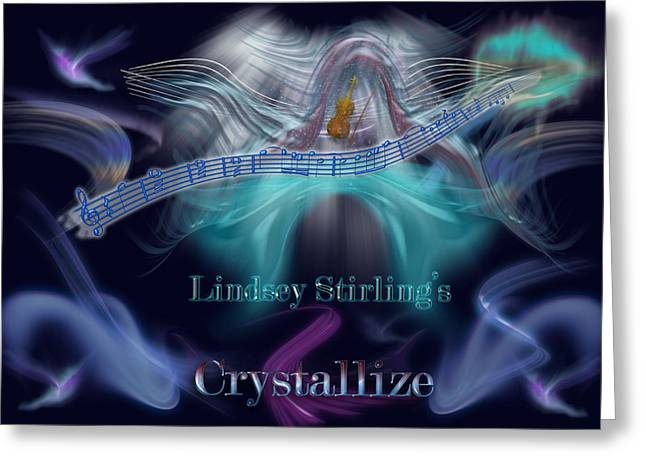 Turquoise Violin Greeting Cards - Crystallize Greeting Card by Becca Buecher
