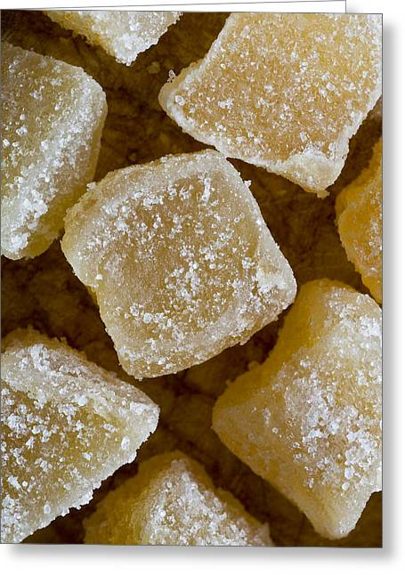 Kitchen Photos Greeting Cards - Crystallized Ginger Greeting Card by Frank Tschakert