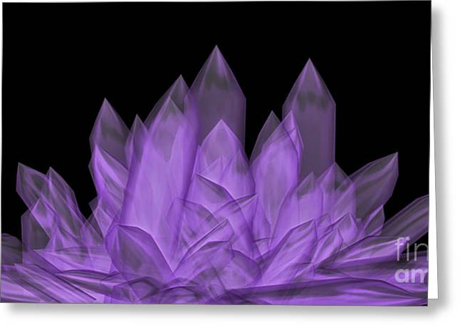 Crystal Healing Greeting Cards - Crystals 2 Greeting Card by Cheryl Young