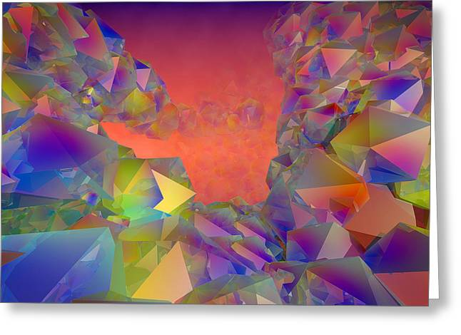 Haut Digital Greeting Cards - Crystals in colorama Greeting Card by Philippe Meisburger