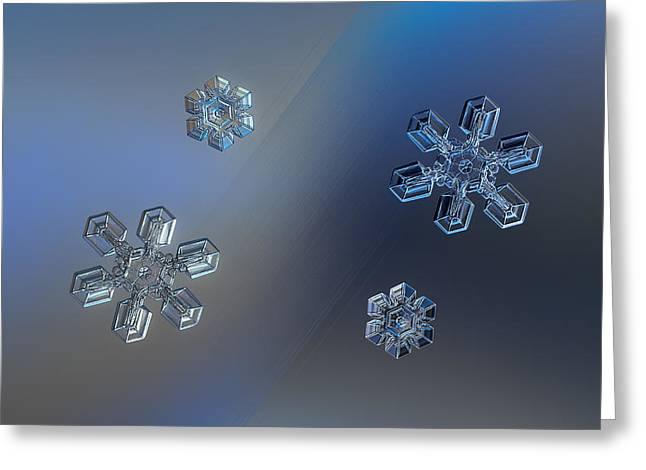 Snowflake Greeting Cards - Crystals of day and night Greeting Card by Alexey Kljatov