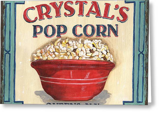 Snacking Greeting Cards - Crystals Popcorn Greeting Card by Debbie DeWitt