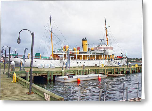 Halifax Greeting Cards - CSS Acadia Greeting Card by Betsy C  Knapp