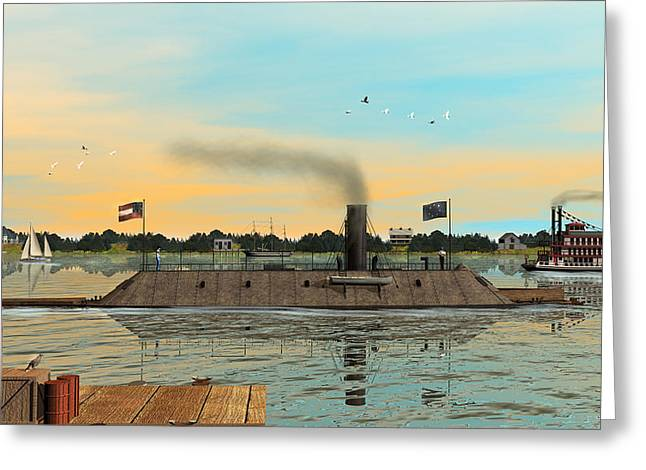 Hamptons Digital Art Greeting Cards - CSS Virginia Greeting Card by Walter Colvin