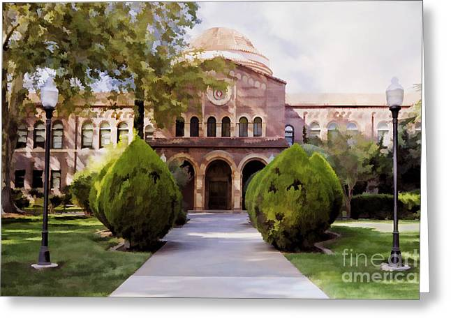 Normal School Greeting Cards - CSU Chico - Kendall Hall Greeting Card by Kathleen Gauthier
