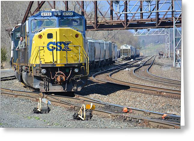 Csx 8733 Greeting Card by Mike Martin