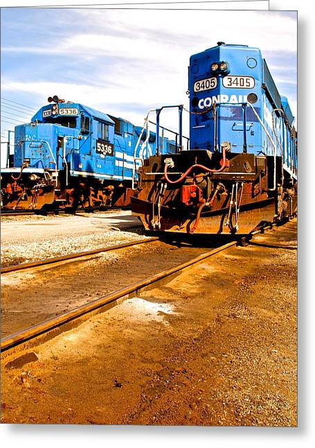 Caboose Greeting Cards - CSX Railroad Greeting Card by Frozen in Time Fine Art Photography