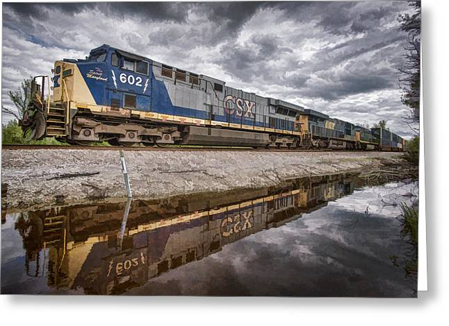 Csx The Spirit Of Maryland Greeting Card by Jim Pearson