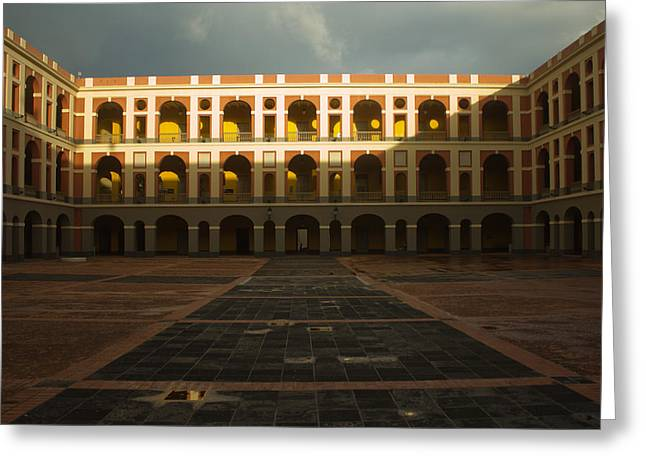 Puerto Rican Culture Greeting Cards - Cuartel de Ballaja Greeting Card by Jose Oquendo