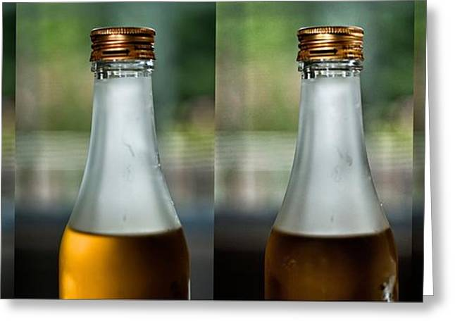 Glass Bottle Greeting Cards - Cuarteto Greeting Card by Guillermo Hakim