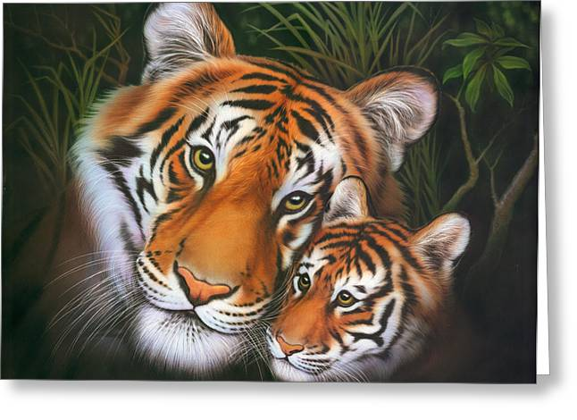 Tigress Greeting Cards - Cub Variant 1 Greeting Card by Andrew Farley