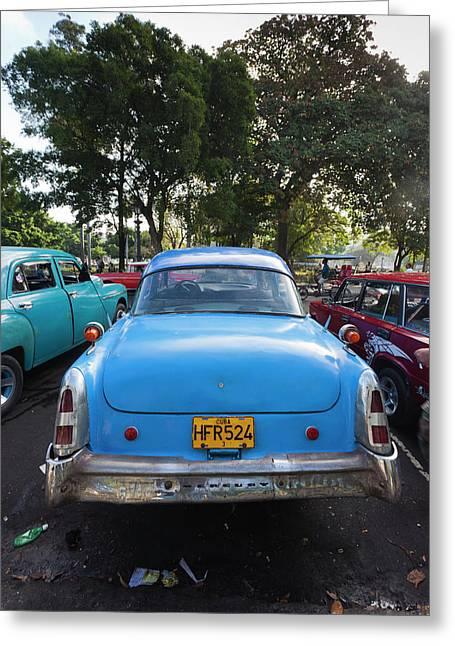 Cuba, Havana, Central Havana, Parque De Greeting Card by Walter Bibikow