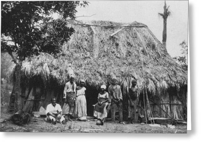 Cuba Plantation Workers Greeting Card by Granger
