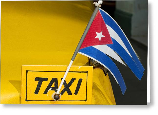 Norman Pogson Greeting Cards - Cuba Taxi Greeting Card by Norman Pogson