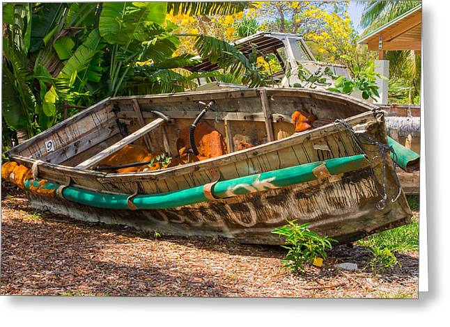 Wooden Ship Greeting Cards - Cuban Chugs Greeting Card by John Bailey