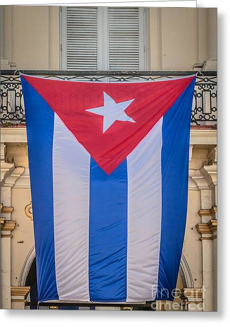 Liberal Greeting Cards - Cuban Flag Key West - HDR Style Greeting Card by Ian Monk