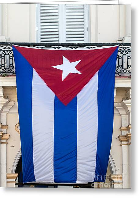 Liberal Greeting Cards - Cuban Flag Key West  Greeting Card by Ian Monk