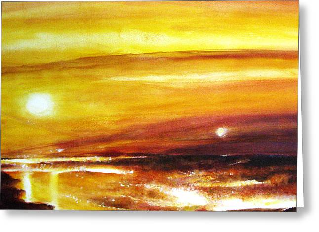 Sun Rays Paintings Greeting Cards - Cuban Sun Greeting Card by NHowell