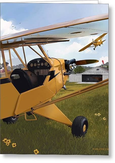 Piper Greeting Cards - Cubbin Greeting Card by Rick Blyseth