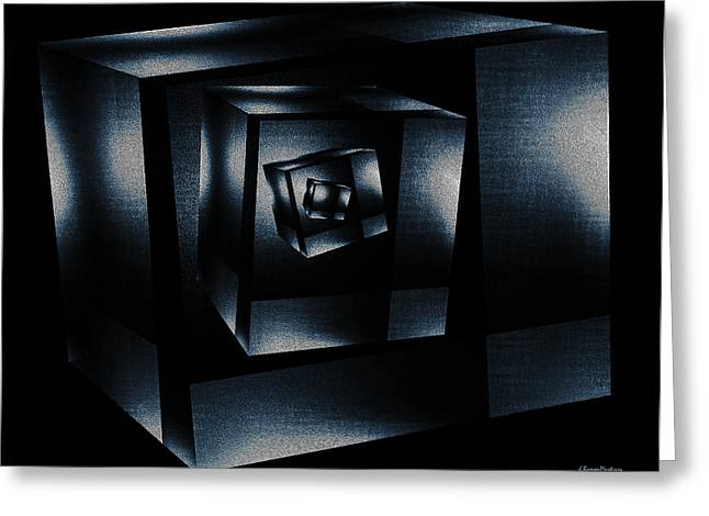 Abstract Digital Digital Art Greeting Cards - Cube in cube Greeting Card by Ramon Martinez
