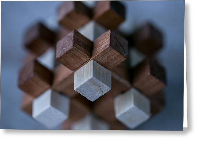 Surreal Geometric Greeting Cards - Cubed Cube Greeting Card by William Huchton
