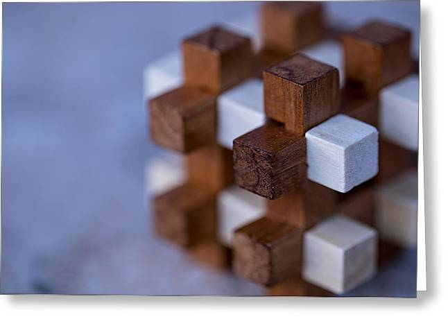 Surreal Geometric Photographs Greeting Cards - Cubed Squared Greeting Card by William Huchton