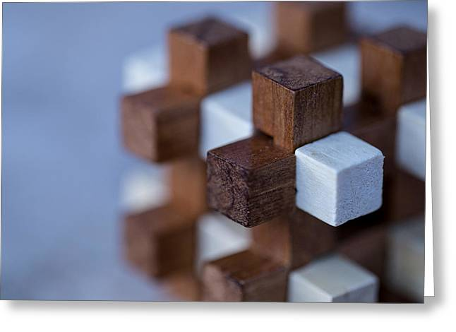 Surreal Geometric Photographs Greeting Cards - Cubed Greeting Card by William Huchton