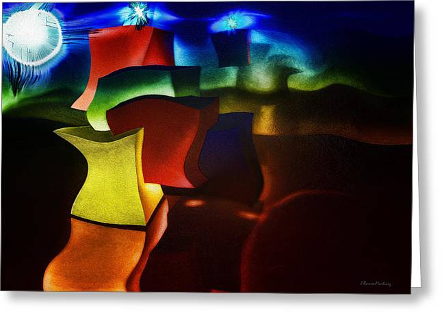 Modernism Greeting Cards - Cubes fantasy Greeting Card by Ramon Martinez